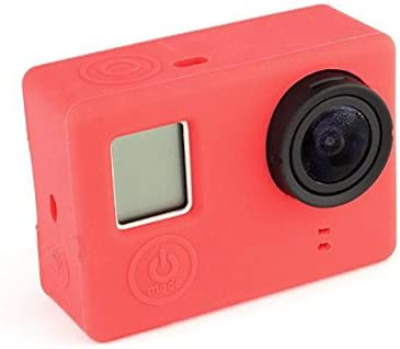 MASUNN Soft Silicone Gel Rubber Protective Case Skin Cover For GoPro Hero 3 Plus 4 Camera Blue