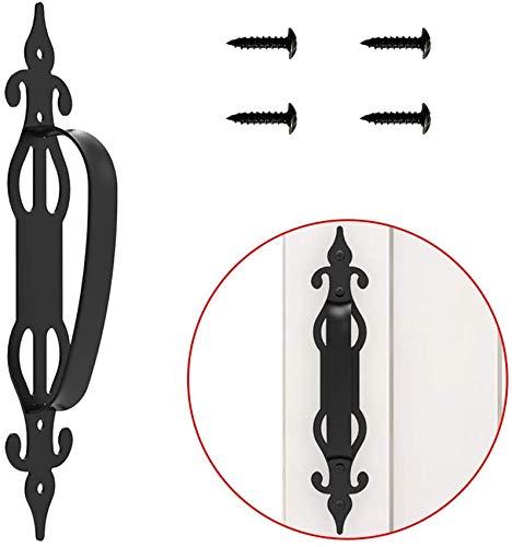 CCJH 1 Stück Schiebetür Holz Gartentor Holz Türgriffe Ziehen Bereift Schwarz, Einfach zu installieren