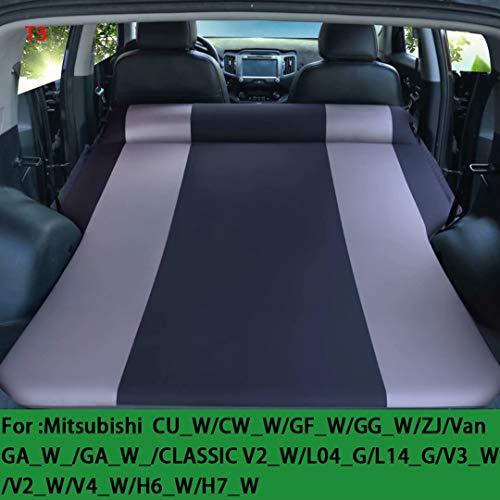 QCCQC Geeignet für Mitsubishi Outlander ASX Pajero Auto aufblasbares Bett Faltbares SUV Kofferraum Reiseluftkissen Bett Luftmatratze, Schwarz + Grau, T3