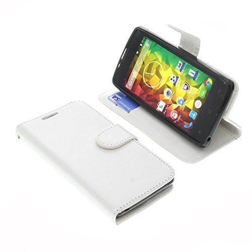 foto-kontor Tasche für MEDION Life E4503 Book Style Weiß Schutz Hülle Buch