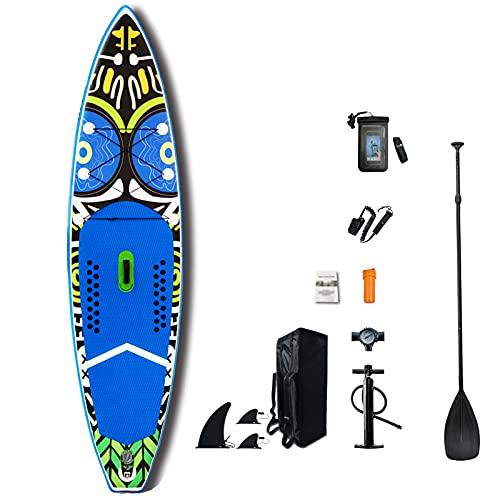 BMDHA Tabla De Surf Inflable,Tabla Sup Hinchable 335 × 83 × 15 Cm Antideslizante,Tabla De Stand Up Paddling Resistente Al Desgaste FáCil De Doblar