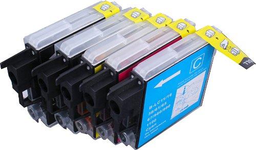 5 Multipack de alta capacidad Brother LC-1100 , LC-980 , LC-985 Cartuchos Compatibles 2 negro, 1 ciano, 1 magenta, 1 amarillo para Brother DCP-145C, DCP-163C, DCP-165C, DCP-167C, DCP-185C, DCP-195C, DCP-197C, DCP-365CN, DCP-373CW, DCP-375CW, DCP-377CW, DCP-383C, DCP-385C, DCP-387C, DCP-395CN, DCP-585CW, DCP-6690CW, DCP-J125, DCP-J140W, DCP-J315W, DCP-J515W, DCP-J715W, MFC-250C, MFC-255CW, MFC-257CW, MFC-290C, MFC-295CN, MFC-297C, MFC-490CW, MFC-5490CN, MFC-5890CN, MFC-5895CW, MFC-6490CW, MFC-6890CDW, MFC-790CW, MFC-795CW, MFC-990CW, MFC-J220, MFC-J265W, MFC-J410, MFC-J415W, MFC-J615W, MFC-J615W. Cartucho de tinta . LC-1100BK , LC-1100C , LC-1100M , LC-1100Y , LC-980BK , LC-980C , LC-980M , LC-980Y , LC-985BK , LC-985C , LC-985M , LC-985Y  123 Cartucho