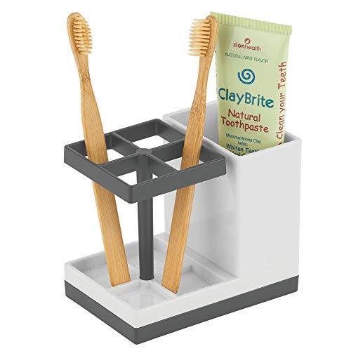mDesign Soporte para cepillos de dientes independiente –