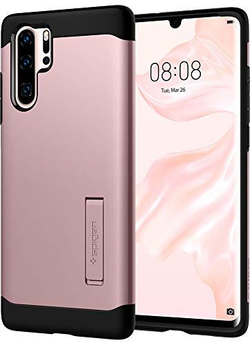 Spigen, Funda Compatible con Huawei P30 Pro 2019 [Slim Armor] con Kick Stand y Protección híbrida contra caídas para Huawei P30 Pro 2019 [Rose Gold]