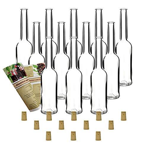 12 leere Glasflaschen