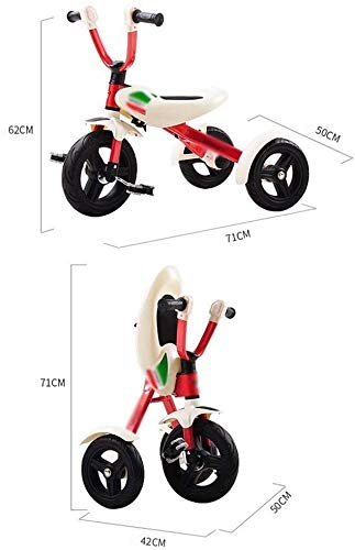 Fahrrad Kid Fahrrad-Dreirad-Kind-Baby-Faltbare Vorschul Bike Portable 3 Räder (Color : White)