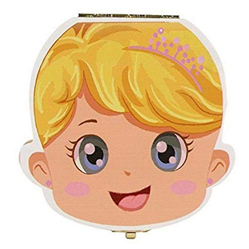 BYFRI Baby Teeth Box Speichern Organizer Holzmilchzahn-Sammlung Lagerung Aufbewahrungs Fall, Geburtstagsparty-Geschenk Milchzähne/Umbilical Cord/Lanugo Lagerung 1pc
