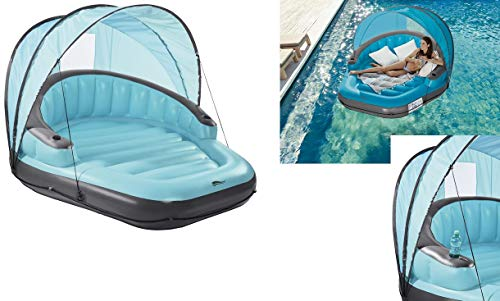 Crivit Loungeinsel Pool-Lounge-Insel Poollounge Pool Luftmatratze Wasserluftmatratze Badeinsel Schwimmliege Pool Liege Lounge Luftmatratze Wasserliege