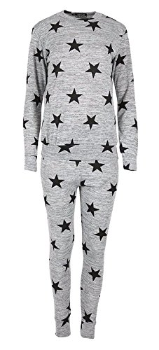 RIDDLEDWITHSTYLE TM® Womens Stars Gedrukt Trainingspak Dames Lounge Draag Top Broek 2 Stuk Set