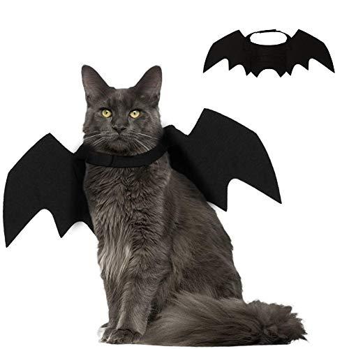 SEALEN Pet Bat Wings Kostüm für Katzenwelpe Kleiner Hund, Einstellbar Haustier Bekleidung, Katze Kostüm Zubehör für Halloween Thanksgiving Day Weihnachten Cosplay Party