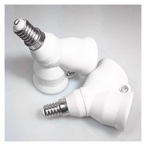 Accesorios para automóviles 2 en 1 E14 Zócalo de lámpara adaptador divisor de luz doble Y sostenedor del soporte de base de la bombilla Ampliamente utilizados for la fotografía,su domicilio o Otros He