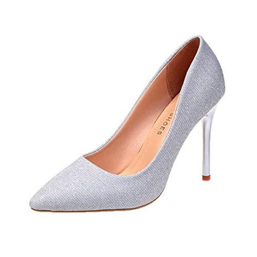Frauen Spitzen Zehen High Heels dünne Ferse Stilettos Damen Slip auf Hochzeitsfeier Brautkleid Schuhe Frühling Herbst Pumps