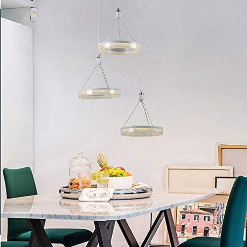 Moderna personalidad minimalista creativa disco de tres cabezas de tres cabezas del restaurante de hierro labrado tamaño 40 cm * 22 cm lámpara de techo iluminación iluminación cafetería bar porche
