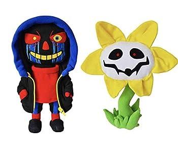 Nobrand Set Undertale Errortale Sans & Flowey Plush Figures Stuffed Toys for Kids Gifts  3 Sans & Flowey