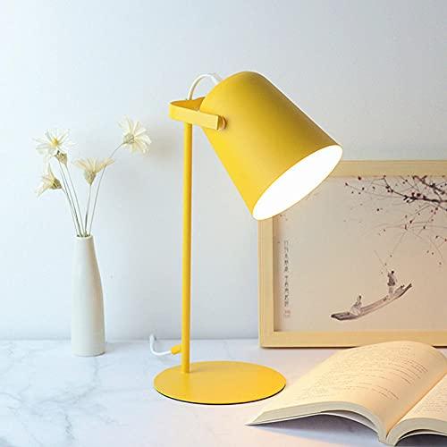Lámpara de mesa moda protección ocular simple intensidad de lectura lámpara de mesa ajustable sala de estar dormitorio decoración del hogar amarillo blanco cálido blanco cálido atenuación