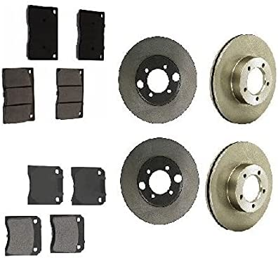Compatible with Jaguar XJS 1976-1984 Rear Kansas 25% OFF City Mall Brake Front Complete