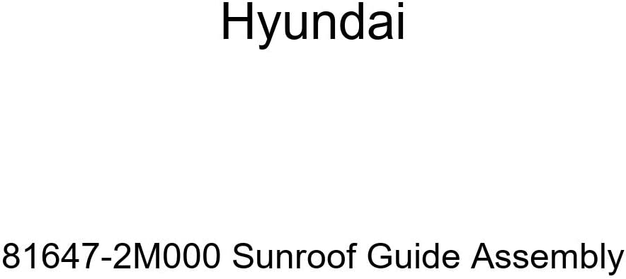 Hyundai 81647-2M000 Sunroof Assembly Guide Cheap mail Nippon regular agency order specialty store