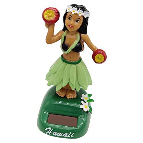 FLAMEER Hula Girl Solarfigur Wackelfigur Solar Spielzeug für Auto Schreibtisch und Zimmer - D