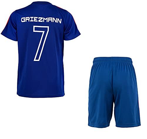 Camiseta de fútbol de Francia de la FFF Antoine Griezmann – Colección oficial para niño, Niñas, azul, 12 años
