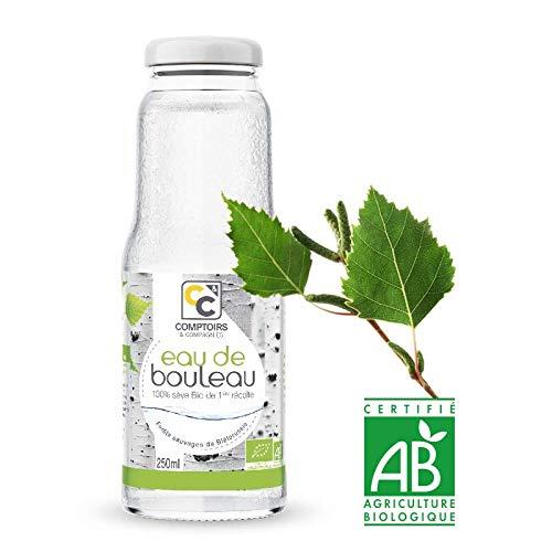 Eau de Bouleau Bio 250ml • Eau végétale Bio • Eau Bio • Sève de Bouleau • Comptoirs & Compagnies