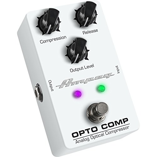 Ampeg Opto Comp Bass Compressor Pedal White, Opto-Comp