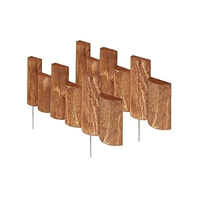 Greenes Fence 18 in. Half Log Edging (2 Pack)