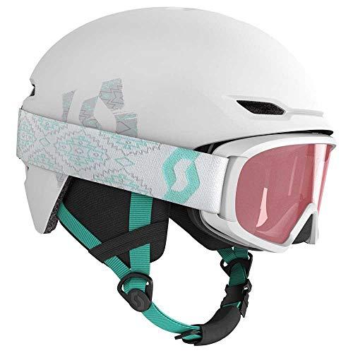 Scott Junior Keeper 2 Helmet + Witty Google Combo Weiß, Kinder Skibrille, Größe M - Farbe White - Mint Green