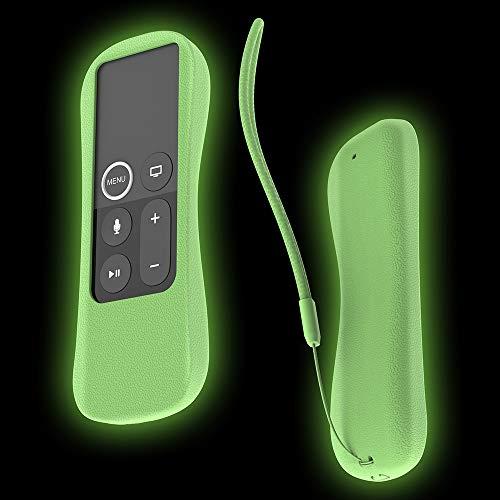 SIKAI Case 2 Capas protetoras em silicone à prova de choque para controle remoto Siri Apple TV 4K 4ª geração, 5ª geração Siri Remote, antiderrapante com alça para controle remoto