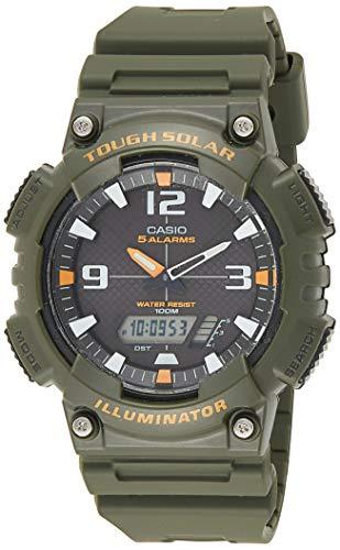Casio Men's Solar Powered Japanese-Quartz Watch with Resin Strap, Green, 28 (Model: EAW-AQ-S810W-3AV)