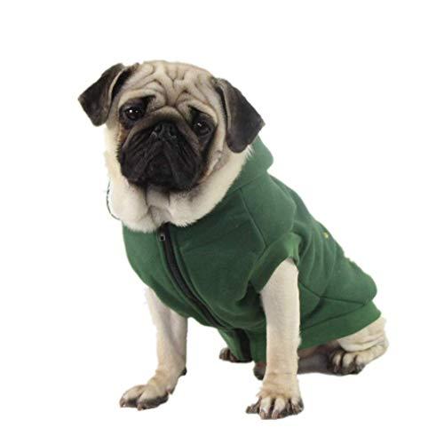 BXFUL Hundemantel, Herbst Und Winter Warm Stickerei Und Samt Kapuzenpullover, Geeignet Für Kleine, Mittlere Und Große Tiere (M)