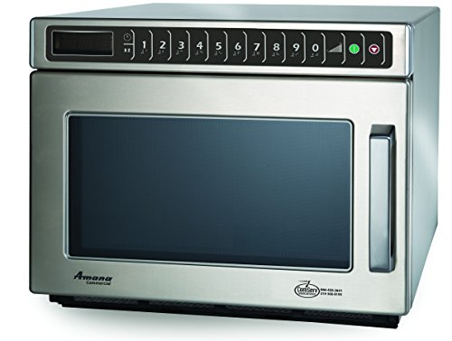 Amana Commercial HDC212 Amana Heavy Duty Compact Commercial Microwave Oven, 2100W, Stainless Steel