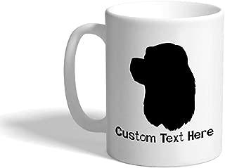 Custom Funny Coffee Mug Coffee Cup American Cocker Spaniel Silhouette White Ceramic Tea Cup 11 OZ Personalized Text Here