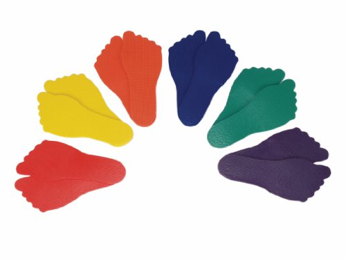 For Sale! American Educational Products Feet Markers, Assorted Colors, Set of 6