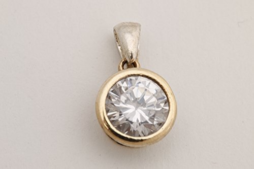 Fashion Style Turkish Handmade Jewelry Round Shape Topaz 925 Sterling Silver Pendant