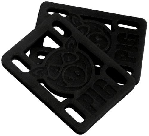PIG Wheels Skateboard-Zubehör-Ablage, Shockpads 1/20.32 cm, Schwarz