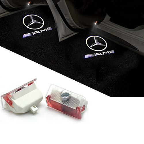 ZNYSTAR Car Lampe der lampe der Tür Ghost Shadow Willkommen Licht Einstiegsbeleuchtung Türbeleuchtung1 Paar (AMG-Benz GLK)