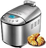 BBYT Completamente automatico Máquina de Pan del hogar Acero Inoxidable Doble Mezcla y Fabricante de Masa Programable, sin Gluten con Dispensador de Frutos Secos, Dispensador automático de levadura