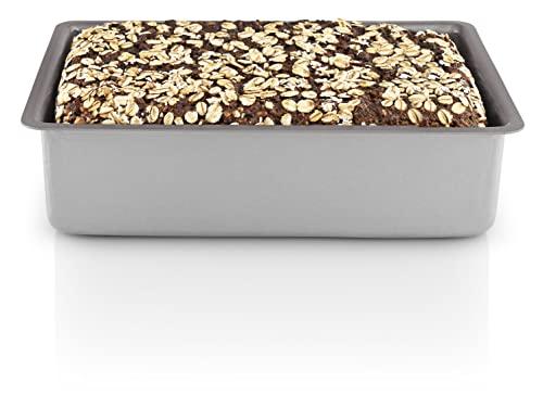 Eva Trio 211020 forma na chleb pełnoziarnisty, forma na czarnoziarnisty, 22 x 14 x 6 cm, 1,85 litra, szara