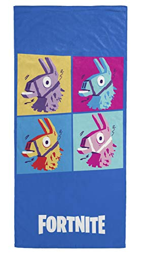 Jay Franco Fortnite Llama Warhol Kids Bath/Pool/Beach Towel - Super Soft & Absorbent Fade Resistant Cotton Towel, Measures 28 inch x 58 inch (Official Fornite Product)