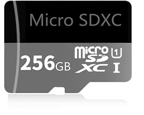 Genericc Tarjeta Micro SD diseñada para smartphones Android, tabletas 128 GB/256 GB de alta velocidad clase 10 SDXC tarjeta de memoria con adaptador (256 GB)