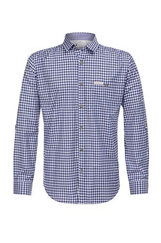 Stockerpoint Herren Campos3 Trachtenhemd, Blau (Blau), Medium