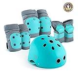Casco Y Protecciones Bicicleta Juego De Protecciones Equipo De Protección Para Niños Patines Monopatín Tamaño Infantiles Rodilleras Deportivos BMX Skate Longboard Coderas Muñuequeras ( Size : S )