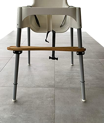 Reposapiés compatible con la trona Ikea Antilop de madera de pino