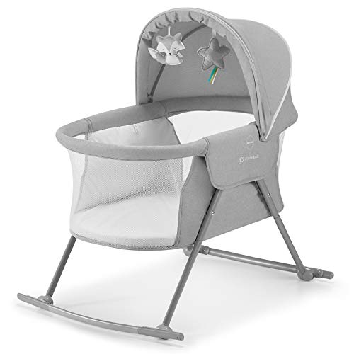 Kinderkraft Baby Crib 3 in 1 LOVI, Cradle, Travel Cot, Rocker, Easy Folding...