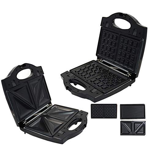 Multifunctionele wafelijzer, volledig Automatische 3-in-1 klein ontbijt Machine met Touch dubbelzijdig verwarming geschikt voor Ei broodjes en sandwiches