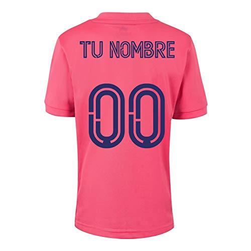 Camiseta - Personalizable - Producto Oficial del Real Madrid para Hombre, 2020/2021, Manga Corta, para Entrenamiento de fútbol - Primera, Segunda y Tercera
