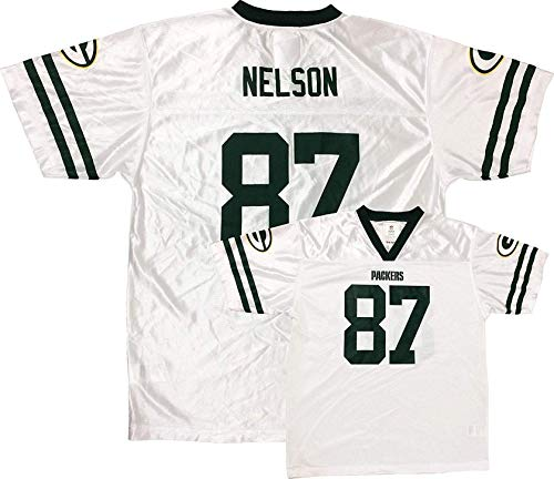 Jordy Nelson Green Bay Packers White Away Player Jersey Kids (Kids 4)