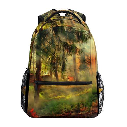 LORANA Styggkaerret Bildbearbeitung HDR Schulrucksack Computer Book Bag Reise Wandern Camping Casual Daypack für Mädchen Jungen Männer und Frauen