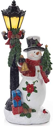 VP Home Snowman with LED Glowing Lamppost Holiday Light product image