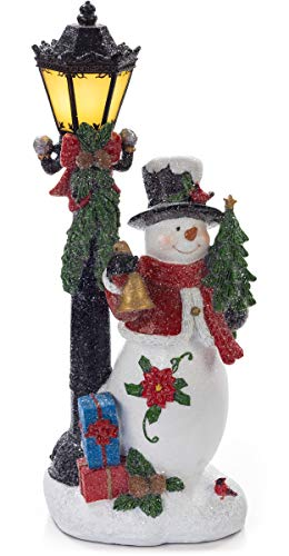 VP Home Snowman with LED Glowing Lamppost Holiday Light